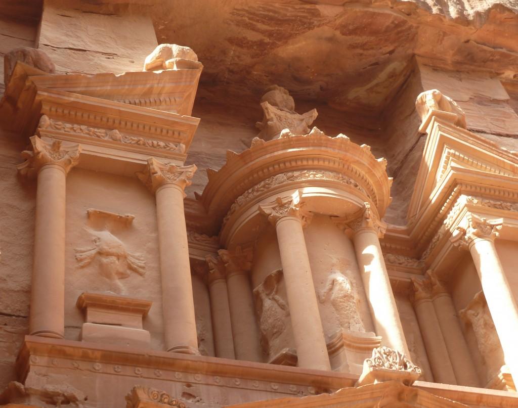 Decorative columns at Petra, Jordan