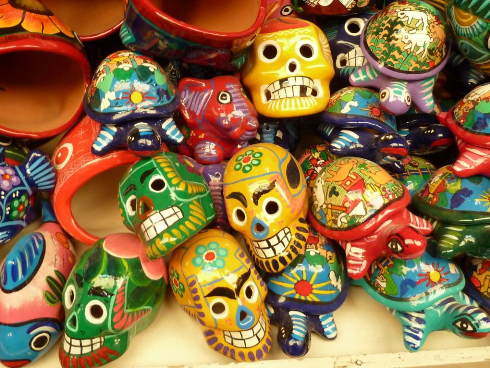 Day of the dead skulls, Zihuatanjeo, Mexico
