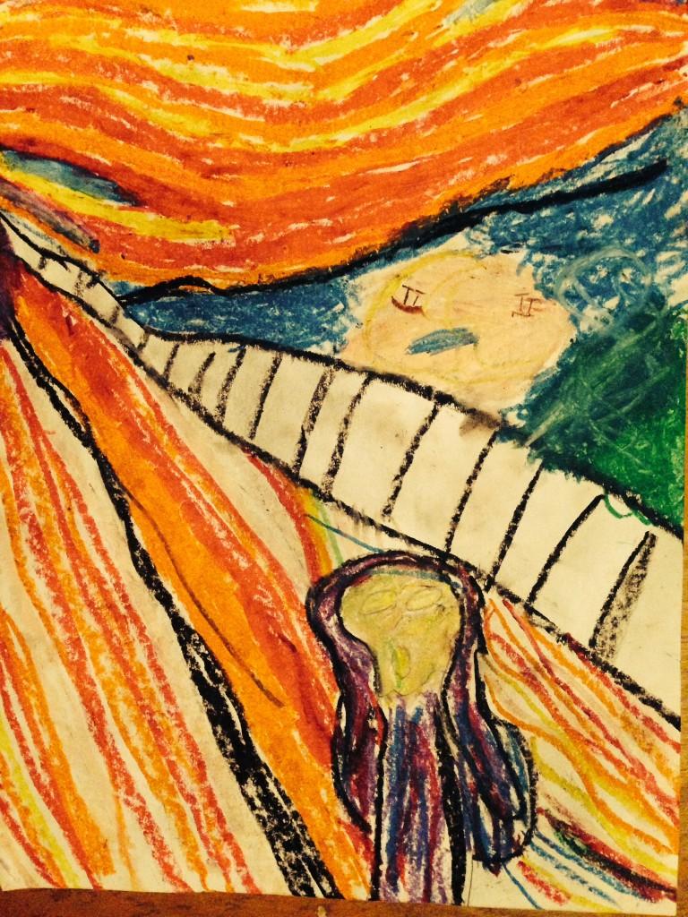 The Scream by Azri Gray-Williamson, 6 years old of Houston, Texas