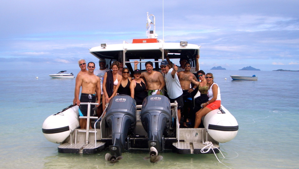 About to head out for some diving in Fiji