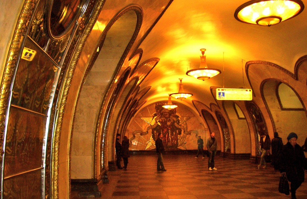Moscow, Russia amazingly beautiful underground subway system
