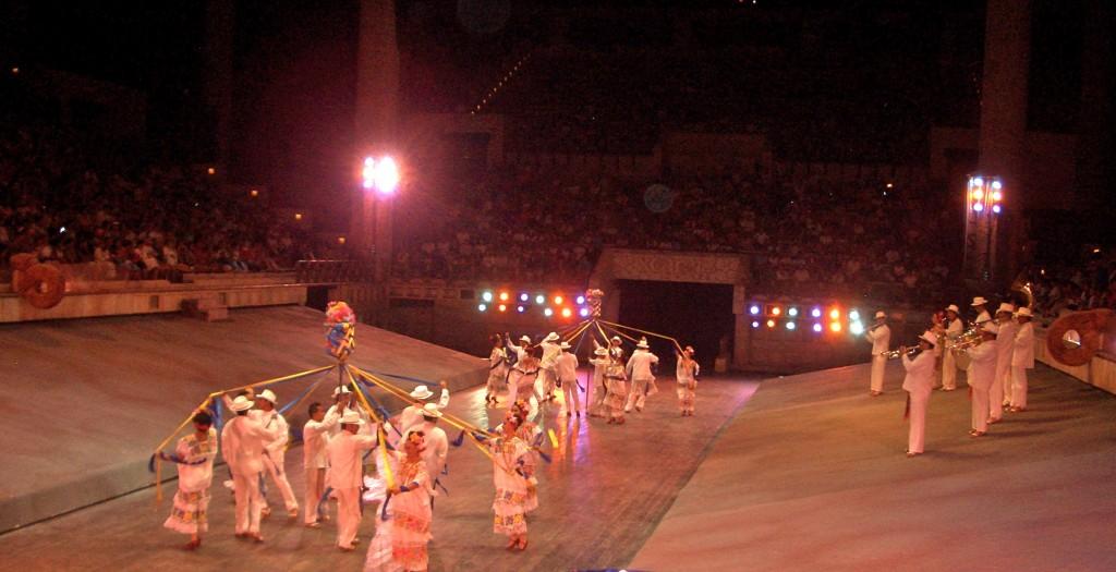 Pre-Hispanic Dances at the Mayan Village, Xcaret, Mexico