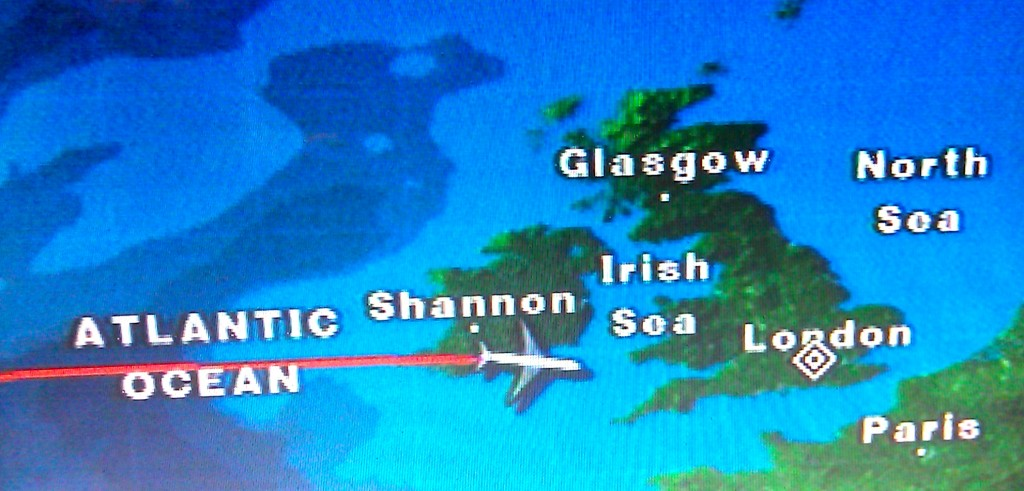 Map of Ireland, Cork on the plane