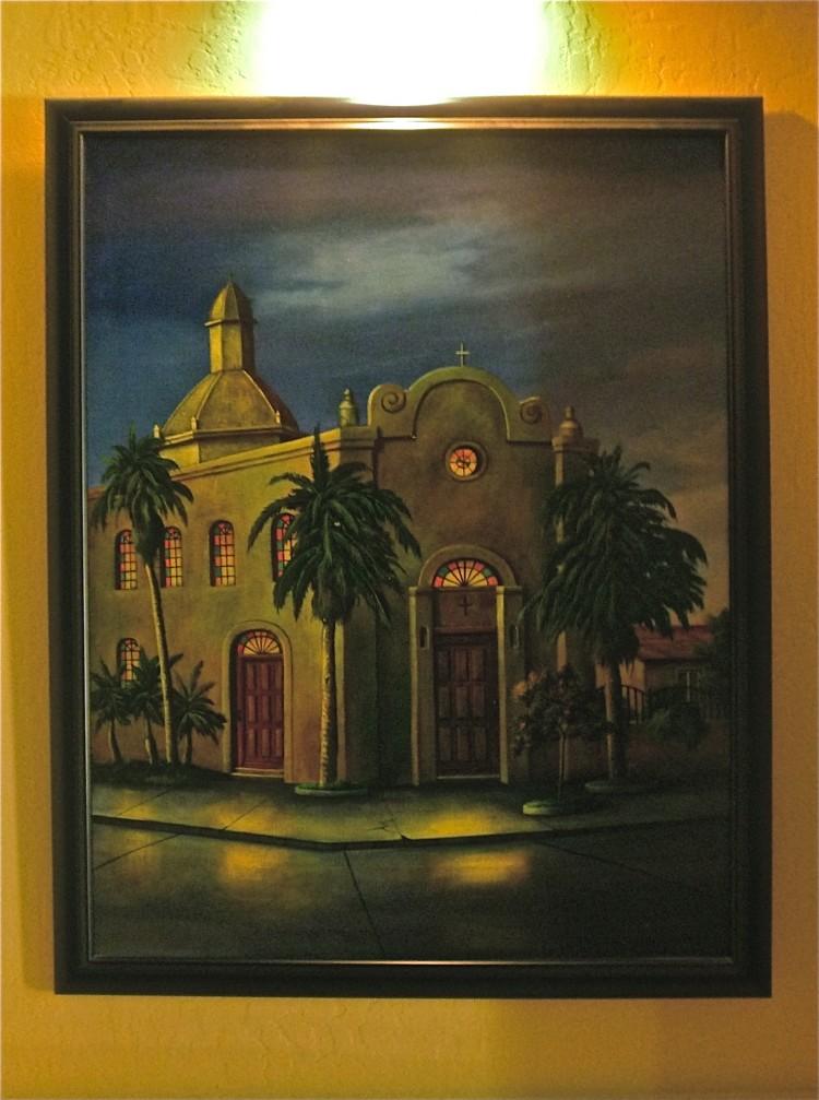 Mexico, Ajo Church painting, Near the Arizona Mexico border, Arizona's Beach: Rocky Point, Mexico