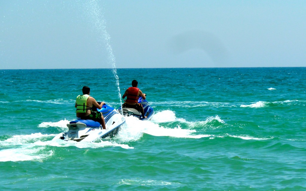 Jet skiing at Arizona's Beach: Rocky Point, Mexico