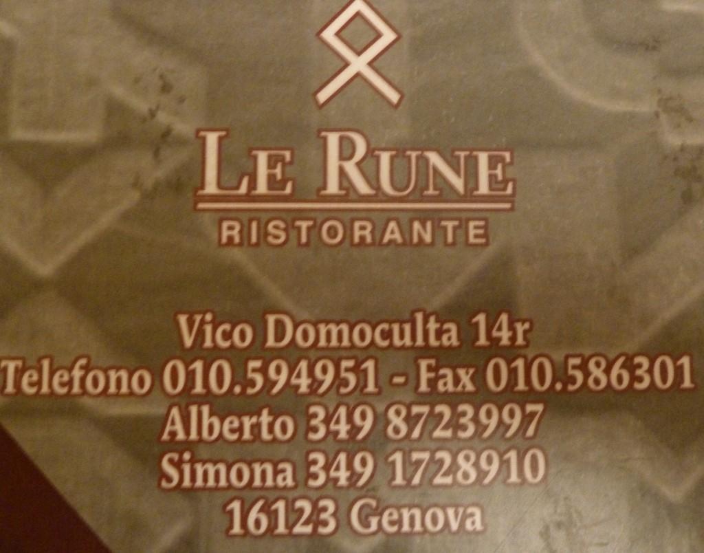 LaRune Restaurant Genoa, Italy BW City Hotel