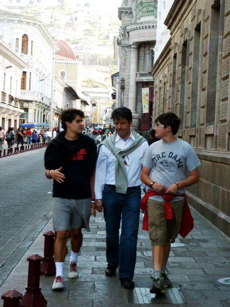 Here they are now: All grown up: The Maloney boys in Quito, Ecuador, Rock of Gibraltar