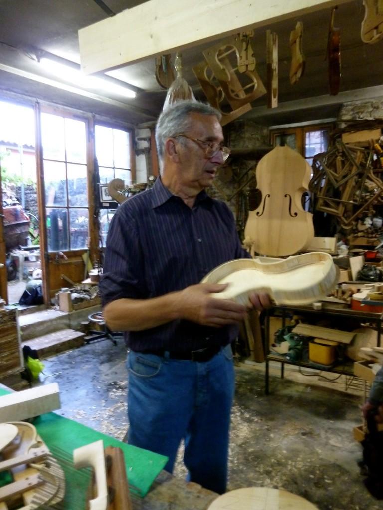 Luigi Lombardi's Violin Shop in Forli, Italy