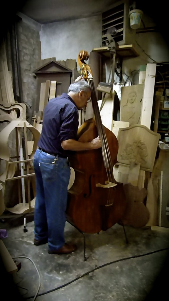Luigi Lombardi playing the Cello in Forli, Italy