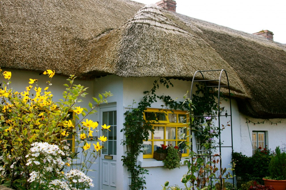 Thatched Roof houses in Adare, Ireland