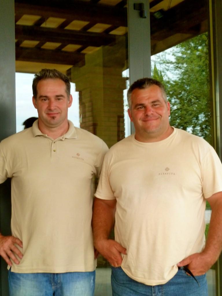 The Giunchi Brothers of AtlaVista Winery in Cesena, Italy