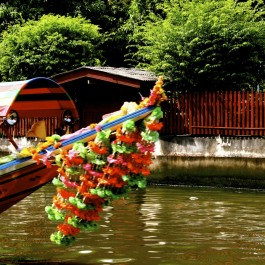 Longboat on the Chao Phraya River, Bangkok, Thailand