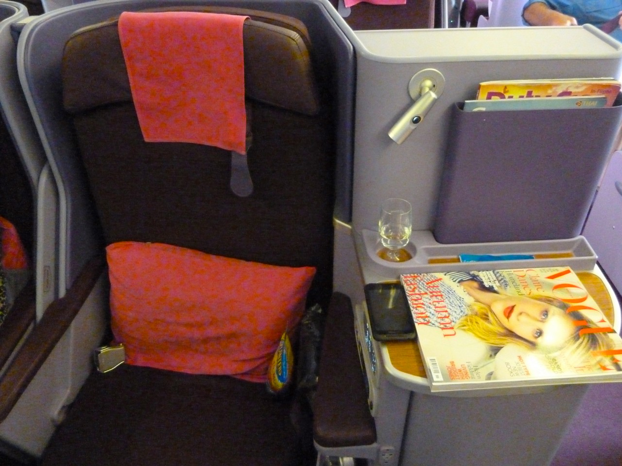 ThaiAirways Business Class Seat