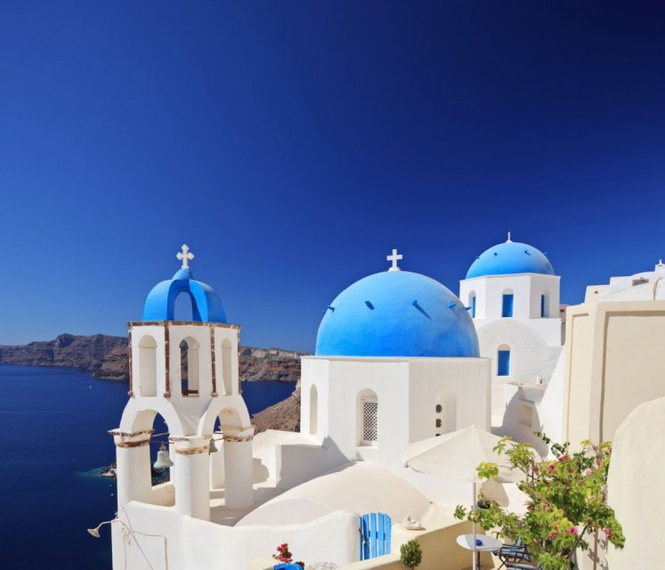 santorini greece how to get there