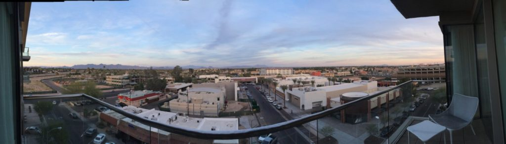 View from the Two Bedroom WOW Suite at the W Scottsdale, AZ