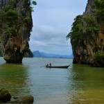 Riding a Longtail to James Bond Island, Thailand