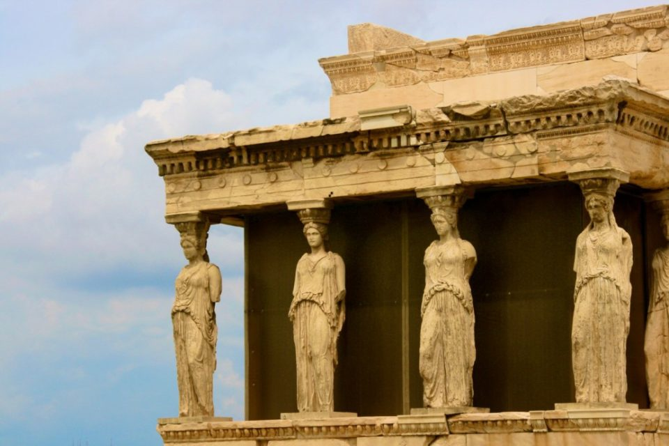 Erechtheion, at the Acropolis, Athens, Greece