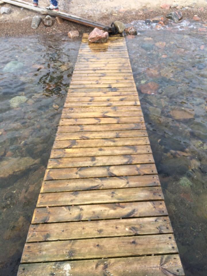 Stepping onto Maakalla Island, Finland