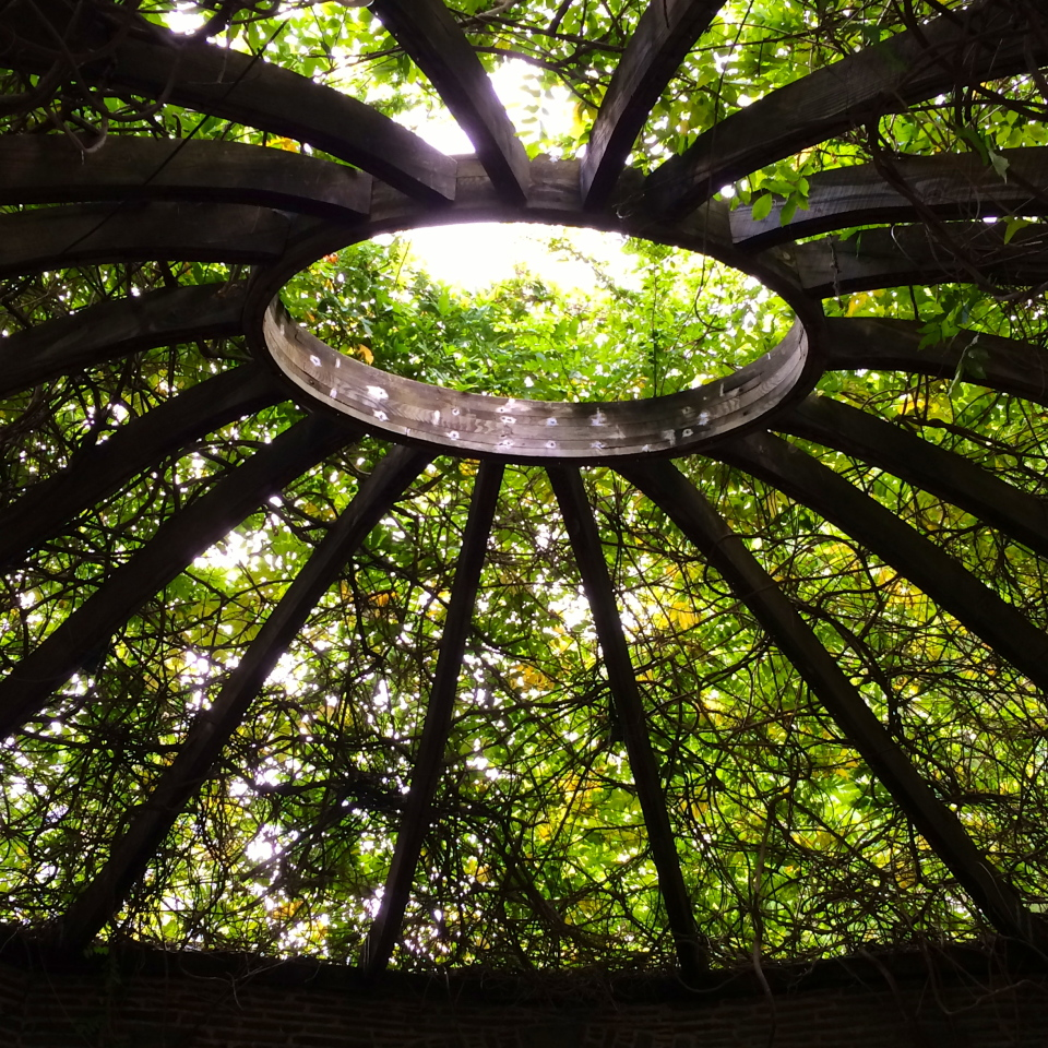 Arbor over Finger Bowl at Grey Towers, Milford, PA