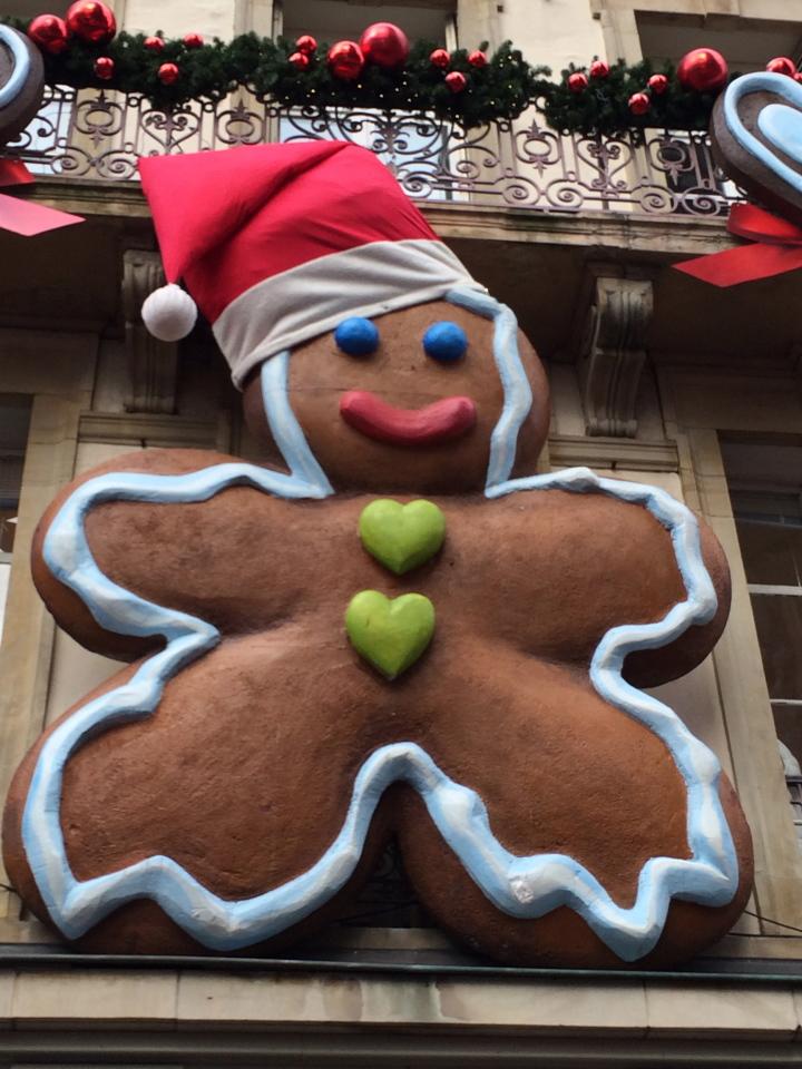 Strasbourg, France life sized gingerbread man