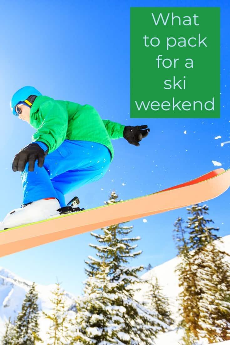 packing list for a weekend ski trip, #Telluride
