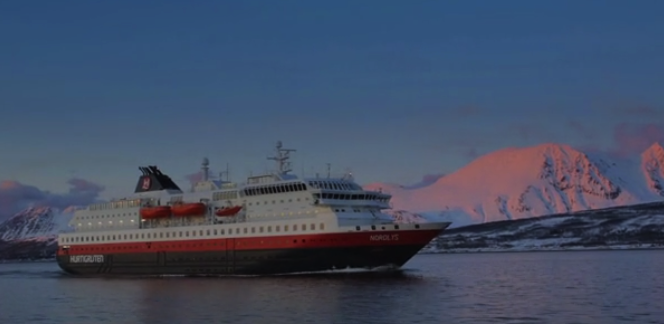 Hurtigruten Ship with Northern Lights in Norway https://ooh.li/1047f24