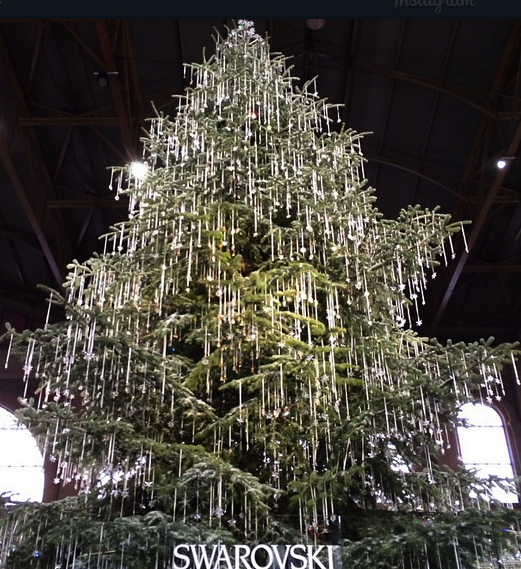 Swarovski's Christmas Tree in Zurich, Switzerland