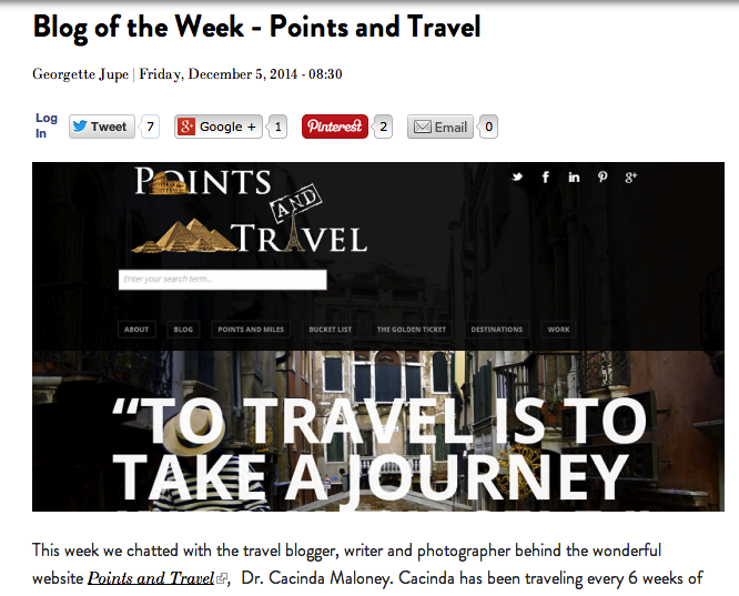 Italy Magazine's Blog of the Week: PointsandTravel