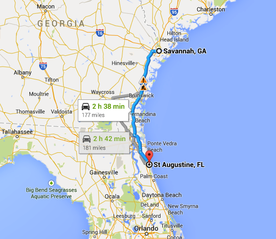 Florida Roadside attractions Kitschy St Augustine – St Augustine Tourist Attractions Map