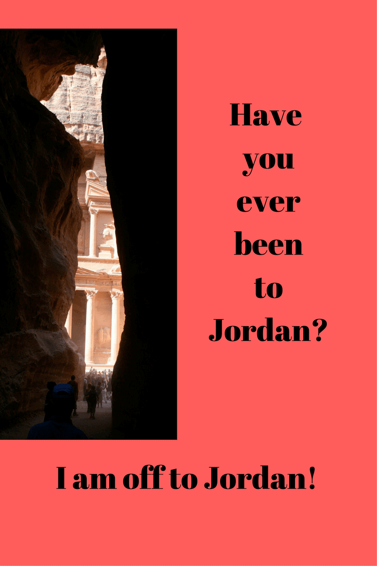 Come along with me as I am off to Jordan!