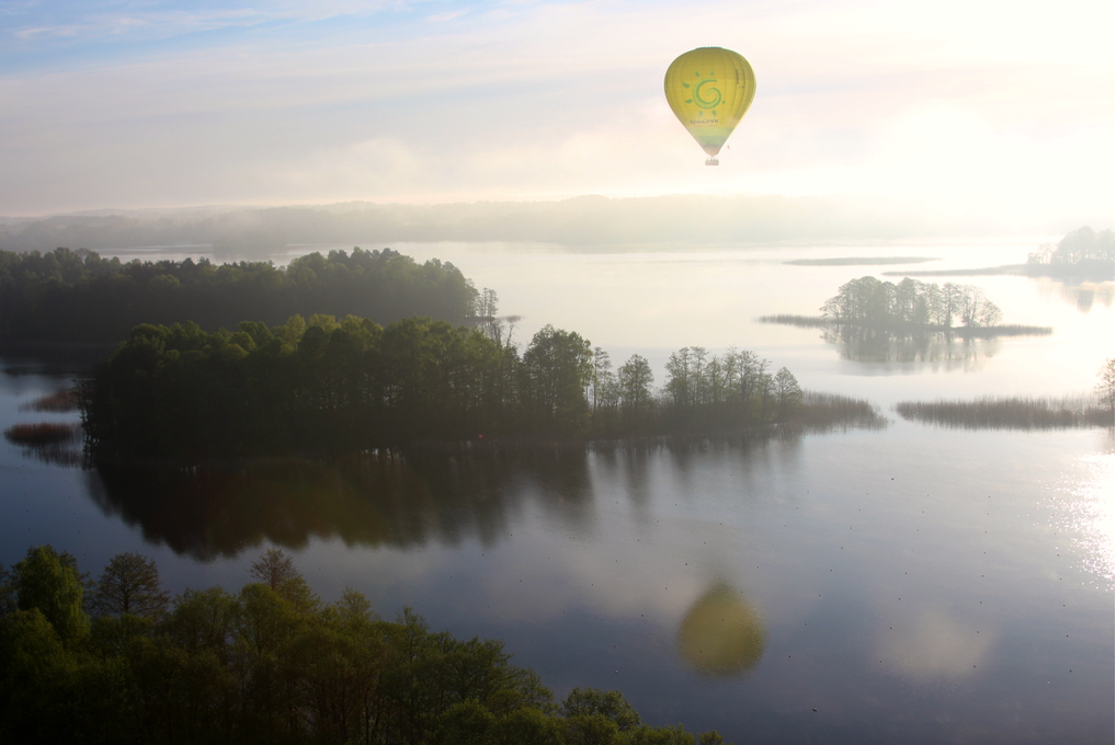 Balloon Flight Over Trakai Island Castle in Lithuania