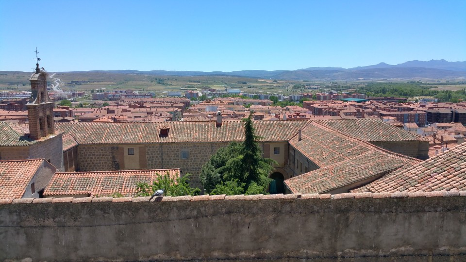 A view of the city surrounding the walled portion of Avila, Spain