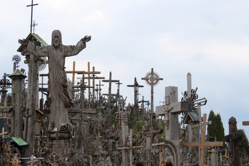 View Larger Image Lithuania Restores Its Old Rugged Cross For A Crown Hill Of Crosses