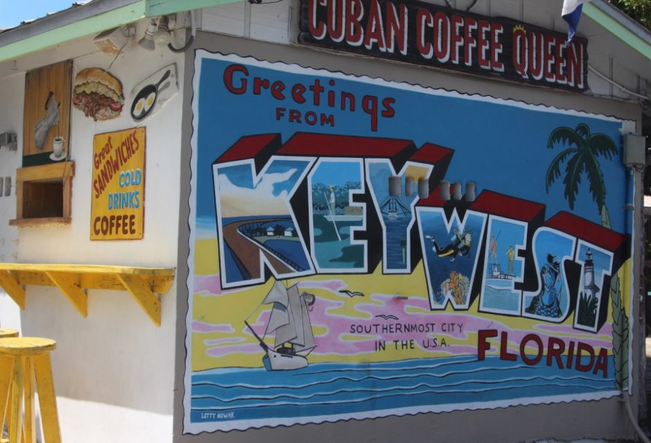 What to do in Key West, Florida, vintage postcard