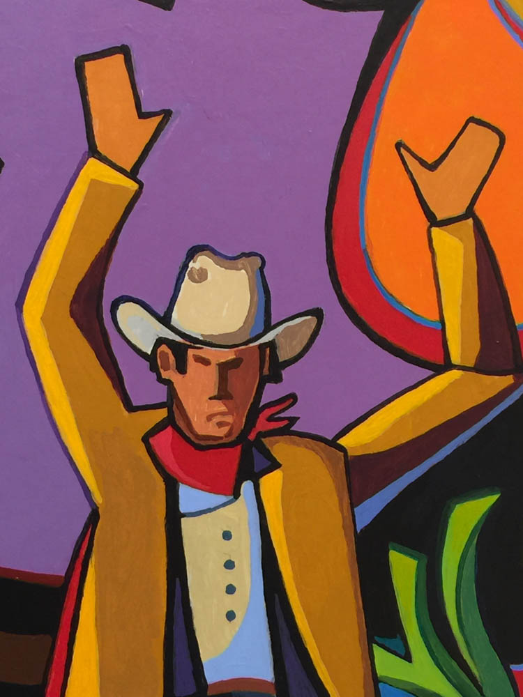 Missoula Art Museum, cowboy painting