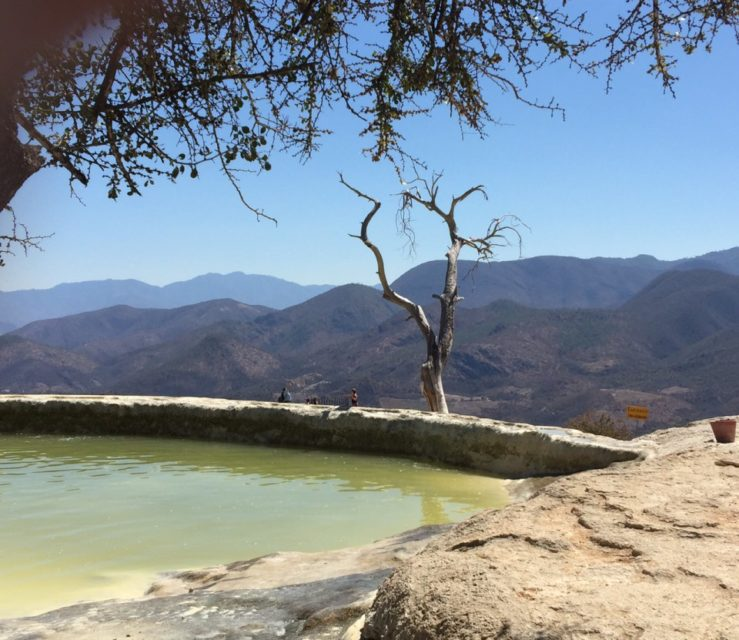 Petrified Waterfall known as Hierve el Agua, Oaxaca