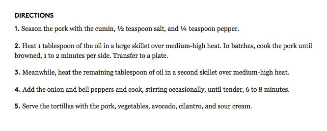 Pork Fajitas, recipe, HERDEZ® Brand Día del Niño