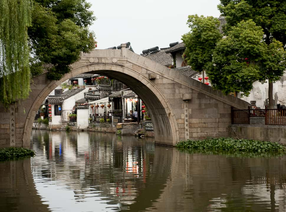 Water Towns of China, Venice of the East, Bridge in Zhouzhaung, China