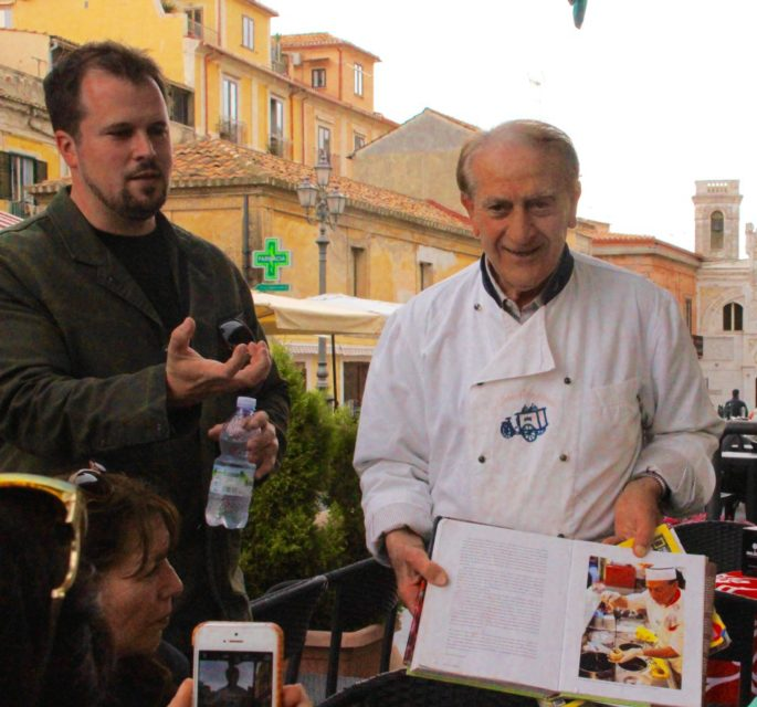 cooking demonstration of tarttufo, gelato shop, Gelato Italiano, Italian Gelato