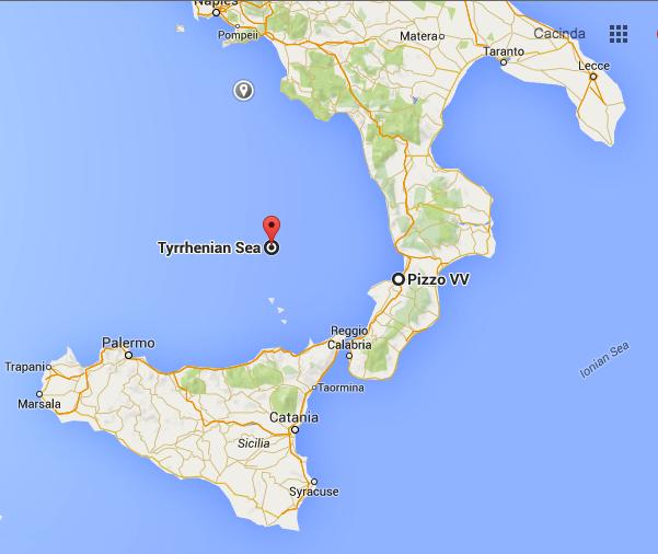 Map of Italy, pizzo, Gelato Italiano,