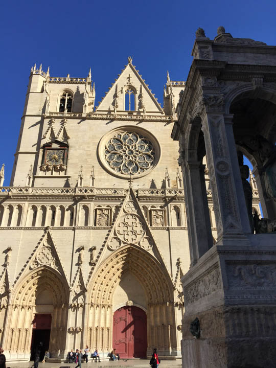 St. Jean Cathedral, Southern France, Viking Tours, French flowers, Lyon street scene