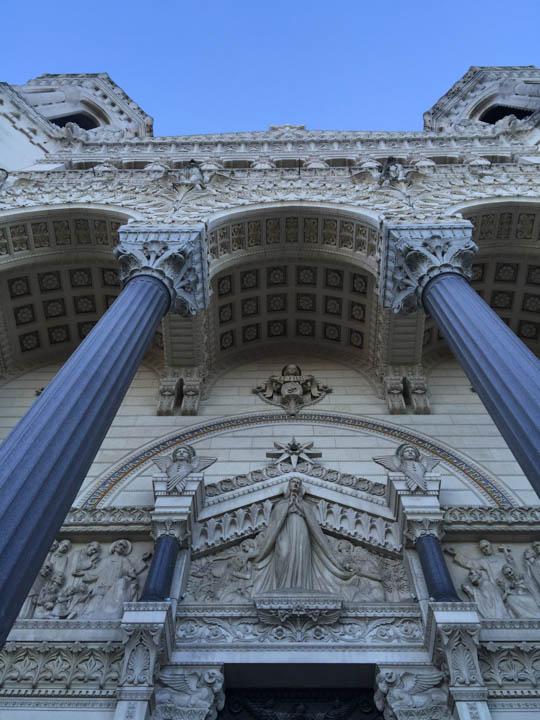 Basilica of Notre-Dame de Fourvière, Lyon lion statue, Southern France, Viking Tours, French flowers, Lyon street scene