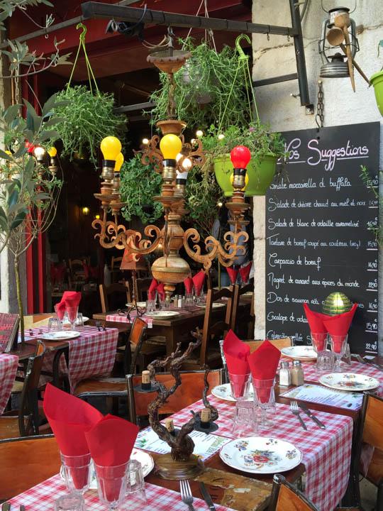 Southern France, Viking Tours, French flowers, Lyon street scene , Lyon cafes