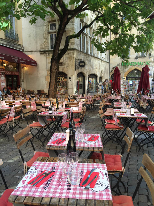 Southern France, Viking Tours, French flowers, Lyon street scene, Lyon cafes