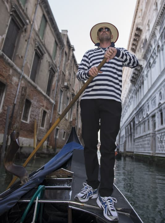 Gondolier on the gondola