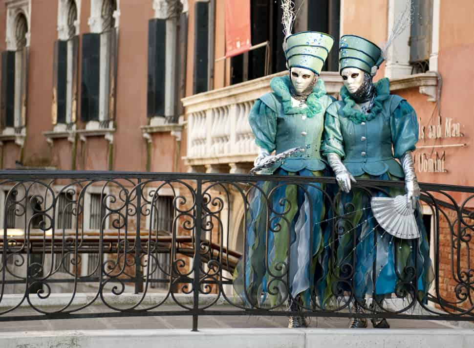 Masked couple in Venice