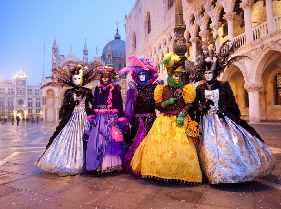 Come along to see the sights of Carnival of Venice, Italy.