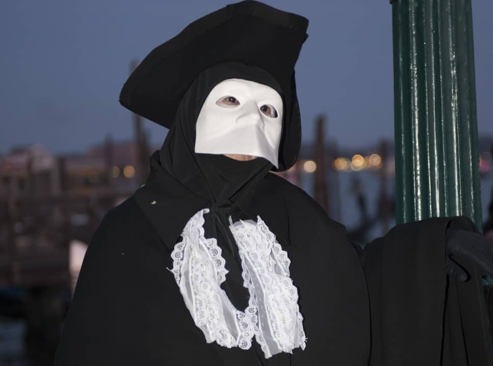 Man wearing a mask at the Venice Carnival