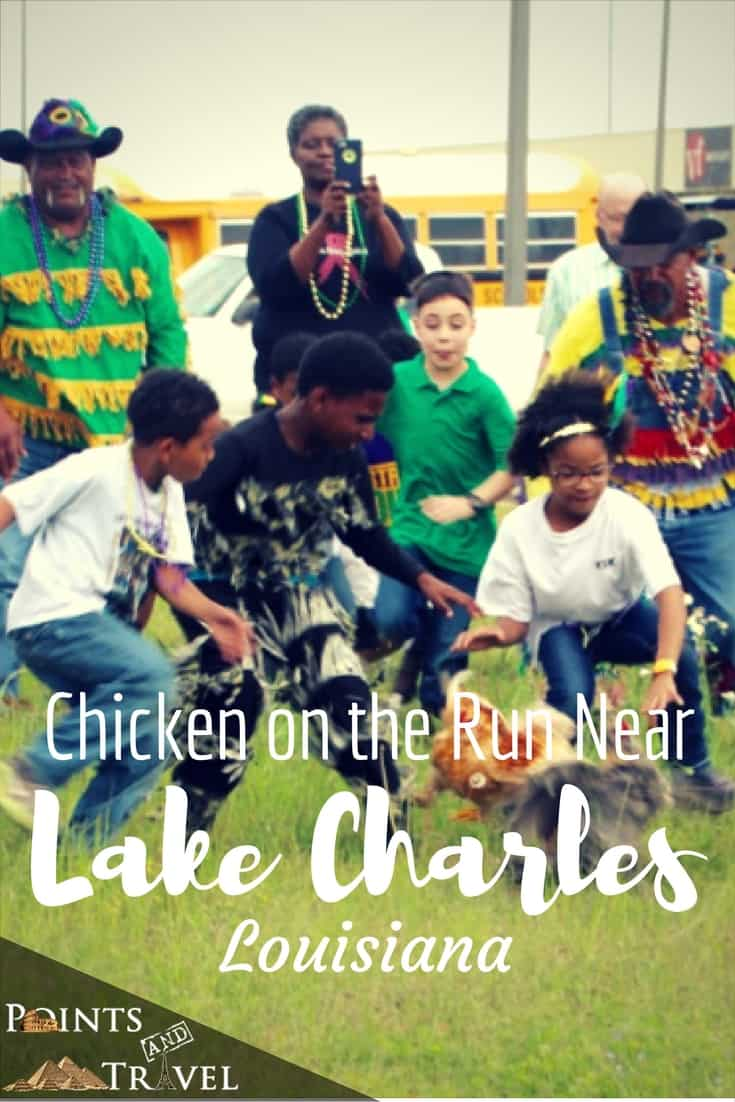 Have you ever seen a chicken on the run? Near Lake Charles, Louisiana you will find one or two in the Iowa Chicken Run for Mardi Gras!