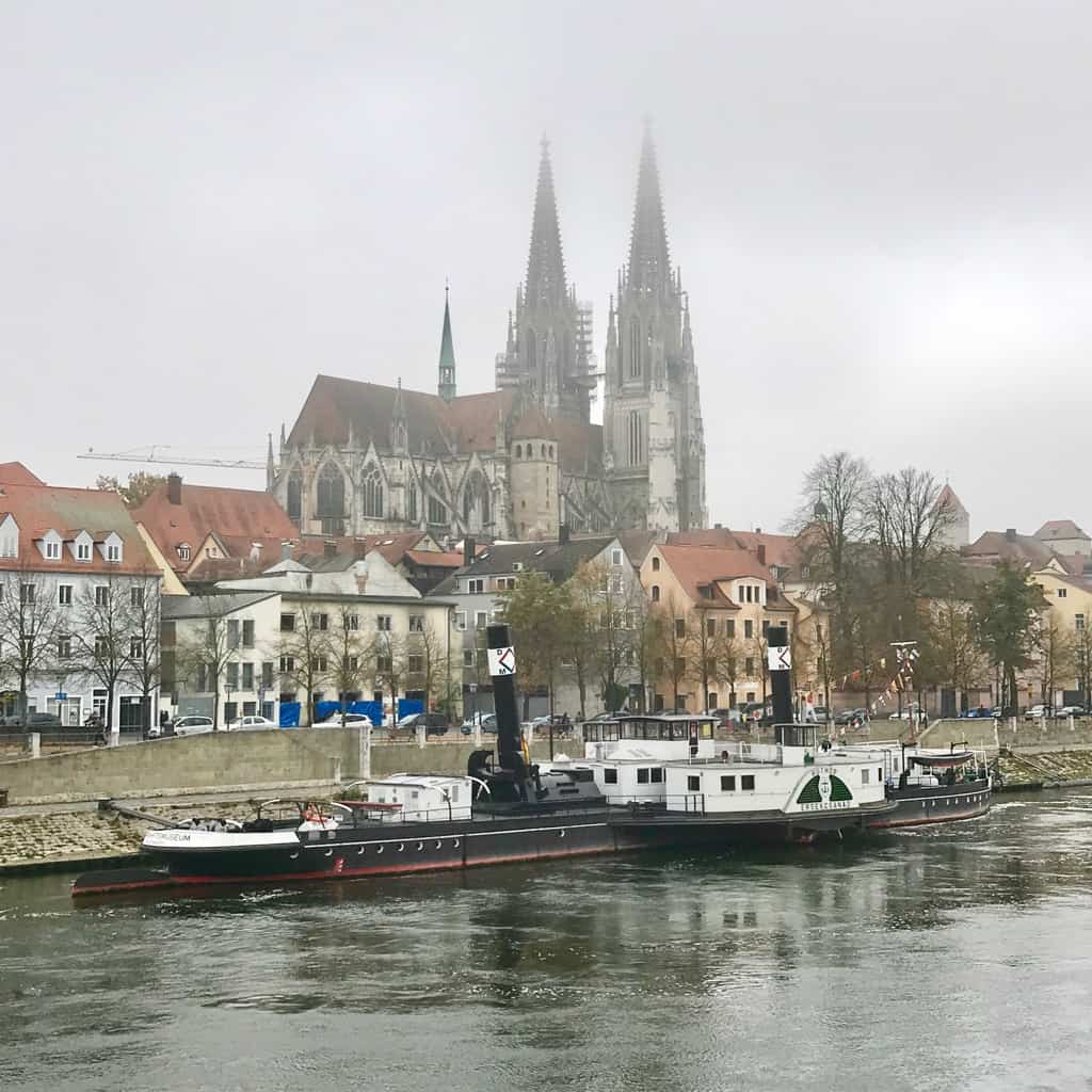 The river danube is central to Regensburg Germany and makes for a pretty scene #germany #regensburg #travel #unesco